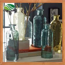 china glass bottle flower vase for home