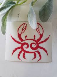 Crab Vinyl Decal I Crab Decal I Car Window Decal I Car Etsy