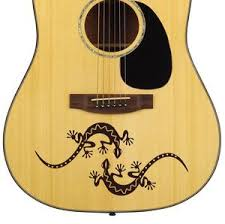 Pair Of Spanish Geckos Acoustic Guitar Vinyl Matte Decal Stickers Designdivil
