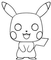 Kleurplaat Funko Pop Pokemon Pikachu 5