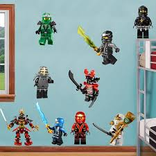 Ninjago Lego 9 Characters Decal Removable Wall Sticker Home Decor Art Lego Room Decor Kids Bedroom Wall Decals Lego Room