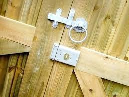 Wooden Fence Lock Amusing Backyard Gate Locks For Gates Garage Doors A Guide Best Tecoman Info