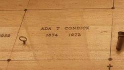 Ada Thompson Condick (1874-1972) - Find A Grave Memorial