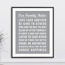 Our Family Rules Wall Art Bus Roll Papermints