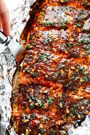 honey mustard salmon in foil gimme