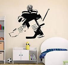 Amazon Com Hockey Wall Art Custom Name Hockey Decal Hockey Wall Decor Ice Hockey Vinyl Sticker Handmade 4380 Handmade
