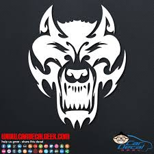 Fierce Tribal Wolf Car Window Wall Decal Sticker Graphic