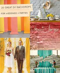 20 great diy wedding backdrop ideas