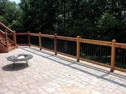 iron deck railing nice patio railings