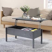 homcom 39 modern lift top coffee table