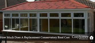 replacement conservatory roof cost
