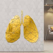Lung Anatomy Acrylic Mirror Wall Art Sticker Alveolar Respiratory System Mirrored Wall Decal Respiratory Therapist Home Decor Wall Stickers Aliexpress