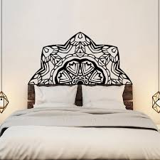 Creative Headboard Wall Decal Wall Sticker Bed Bedside Mandala Vinyl Kids Room Bedroom Giant Headboard Flower Home Decor Wallpapers Aliexpress