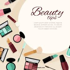 beauty tips template free vector