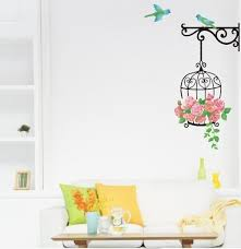 Bird Cage Rose Flowers Blue Bird Wall Decal Sticker Decor Living Room Art Decor Poster Removable Pvc Wallpaper Kids Room Wall Decals Kids Room Wall Stickers From Magicforwall 1 61 Dhgate Com
