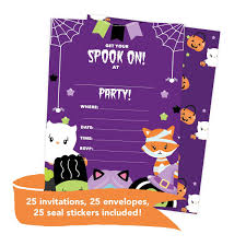Halloween 2 Tarjetas De Invitacion Para Cumpleanos Con 34 917