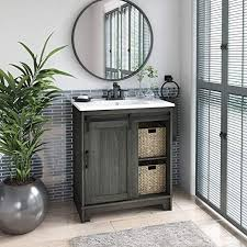 single bathroom vanity with sliding