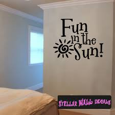 Fun In The Sun Summer Holiday Wall Decals Wall Quotes Wall Murals Hd121 Swd