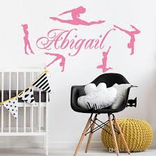 Personalized Name Gymnasts Vinyl Wall Decals Custom Girls Name Gymnastics Dance Home Decor Wall Stickers Mural Poster Hot Wall Vinyl Sticker Wall Vinyl Stickers From Qiansuning666 21 29 Dhgate Com