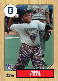 Prince Fielder Fielder was born right-handed, but at a very young age was  converted to being a left-handed hitter by h… | Sports cards, Cecil  fielder, Tiger stadium