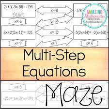 equations maze worksheet