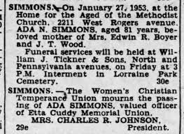 Ada Norris Simmons obituary - Newspapers.com