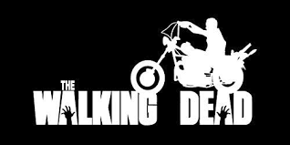 Amazon Com Daryl Dixon Walking Dead Motorcycle White Vinyl Car Laptop Window Wall Decal Home Improvement