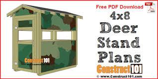 deer stand plans 4x8 free pdf
