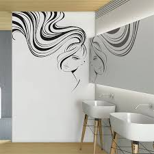 Ponytail Beauty Hair Face Girl Vinyl Wall Art Decal