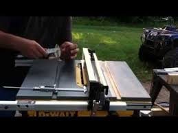 Dewalt Table Saw Fence Alignment Youtube Table Saw Fence Table Saw Table