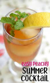 peach vodka iced tea summer l