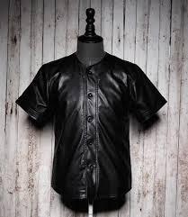 leather baseball jersey top men fashion