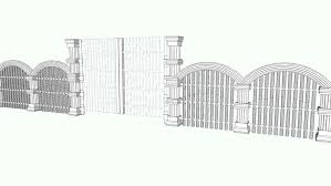 Gate Fence 3d Warehouse