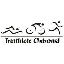 Triathlete Onboard Vinyl Car Laptop Window Wall Decal Mymonkeysticker Com