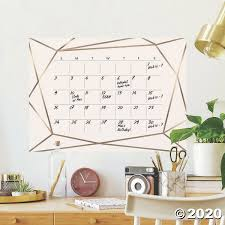 Roommates Blush Beauty Dry Erase Calendar Peel And Stick Giant Wall Decals Oriental Trading