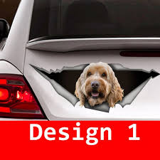 Goldendoodle Car Decal 3d Sticker Pet Decal Dog Decal Etsy