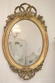 antique french ribbon mirror from full