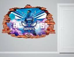 Charlotte Hornets Nba Wall Decal Living Room 3d Wall Paper Sticker J253 Ebay