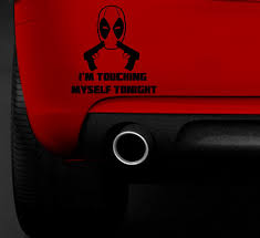 Deadpool Touching Myself With Guns Funny Buy Online In Bahamas At Desertcart