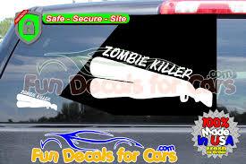 Zombie Killer Shotgun Vinyl Decal Vinyl Die Cut Stickers