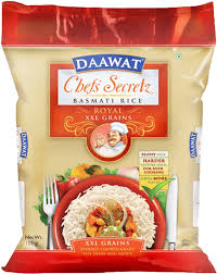 many calories in a bag of basmati rice
