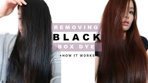 removing permanent box dye in hair