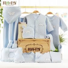 Baby set quà tặng quần áo sơ sinh cotton mùa thu và mùa đông sơ sinh thai  sản cung cấp quà tặng hộp gỗ | Lumtics