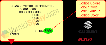 all colour codes for suzuki