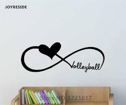 Joyreside Volleyball Wall Love Sticker Quote Decals Vinyl Interior Decor Kids Boys Girls Room Bedroom Home Design Murals A1247 Wall Stickers Aliexpress