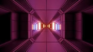 futuristic sci fi e tunnel corridor