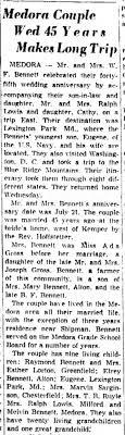 William & Ada Bennett - 45th anniversary trip - Newspapers.com