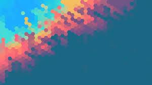 minimalist abstract hexagon colorful 4k
