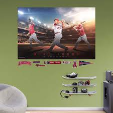 Shop Fathead Mike Trout Montage Mural Overstock 11802272