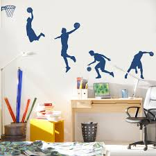 Basketball Player In Action Wall Decals Stickers Graphics
